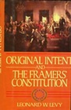 Original Intent and the Framers'…
