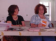 Author photo. Hilary Wainwright (left) with Judy Rebick at World Social Forum 3, Porto Alegre, Brazil, 2003. (courtesy of <a href=&quot;http://www.zmag.org/photo6.htm&quot;>ZNet</a>)