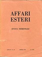 Affari Esteri : Rivista Trimestrale, Anno by…