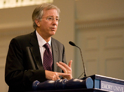 Author photo. Ross speaking at Emory University