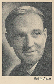 Author photo. Cut down scan of back cover of Penguin No. 807. Photo credited to Robin Adler.