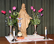 Author photo. Altar of the Legion of Mary.  Photo by F. P. Hollabrunn / Wikimedia Commons.