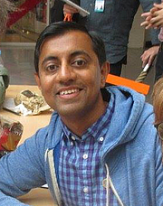 """Author photo. Sanjay Patel at Annecy Festival of Animation By Boungawa - Own work, CC BY-SA 4.0, <a href=""""https://commons.wikimedia.org/w/index.php?curid=41020136"""" rel=""""nofollow"""" target=""""_top"""">https://commons.wikimedia.org/w/index.php?curid=41020136</a>"""