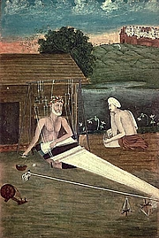"Author photo. An 1825 CE painting depicts Kabir weaving By Unknown - internet: <a href=""http://oldsite.library.upenn.edu/etext/sasia/aiis/mini-paint/company/004.html"" rel=""nofollow"" target=""_top"">http://oldsite.library.upenn.edu/etext/sasia/aiis/mini-paint/company/004.html</a> physical:Jaipur, Central Museum, Public Domain, <a href=""https://commons.wikimedia.org/w/index.php?curid=15248939"" rel=""nofollow"" target=""_top"">https://commons.wikimedia.org/w/index.php?curid=15248939</a>"