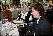 Author photo. Aya Zikken - Op 17 maart 2013 ontving zij uit handen van biograaf Kees Ruys vers van de pers het eerste exemplaar van haar biografie 'Alles is voor even'. - Photo: © Els Kort