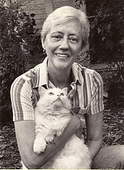 Author photo. A picture of Anne Leaton with her cat