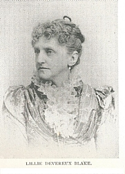 Author photo. Lillie Devereux Blake (1835-    )  Buffalo Electrotype and Engraving Co., Buffalo, N.Y.