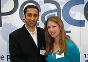 Author photo. Thierry Meyssan (left) with Alexandra Robbins <a href=&quot;http://www.voltairenet.org/fr&quot;>« Source : Réseau Voltaire »</a>