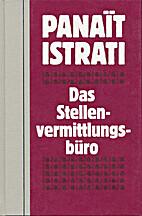 Le bureau de placement by Panait Istrati