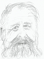 Author photo. drawing by Henry Denander