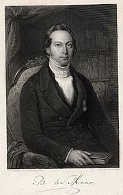 Author photo. From: Zangen van vroegeren leeftijd en nieuwe gedichten, by Bernard ter Haar, published Arnhem 1851.