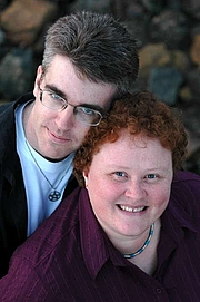 Author photo. Jon(athan) Blum with poartner Kate Orman
