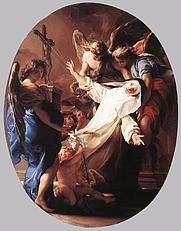 Author photo. The Ecstasy of St Catherine of Siena Pompeo Batoni 1743