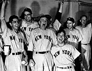 Author photo. (<b>left</b>) The 1949 New York Yankees celebrate their World Series victory: Image © <a href=&quot;http://www.bildarchiv.at/&quot;>ÖNB/Wien</a>