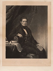 Author photo. Engraving by William Oakley Burgess (1818-1844), after a painting by John Lucas (1807-1874)