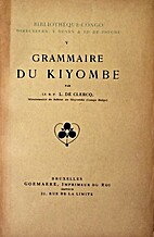 Grammaire du kiyombe by L. de Clercq