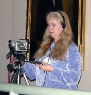Author photo. Lydia Sargent taking videos at Socialist Scholars Conference (courtesy of <a href=&quot;http://www.zmag.org/photo7.htm&quot;>ZNet</a>)
