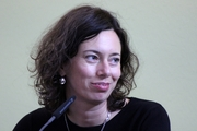 """Author photo. Eva Menasse, Leipzig Bookfair 2013 By Lesekreis - Own work, CC0, <a href=""""https://commons.wikimedia.org/w/index.php?curid=25193905"""" rel=""""nofollow"""" target=""""_top"""">https://commons.wikimedia.org/w/index.php?curid=25193905</a>"""