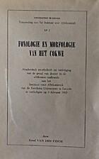 Fonologie en morfologie van het Cokwe... by…