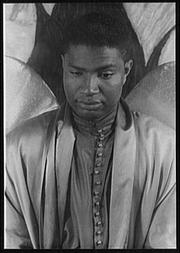 Author photo. Ossie Davis, as Gabriel in The Green Pastures, photo by Carl Van Vechten, April 12, 1951 (Library of Congress, Prints & Photographs Division, Carl Van Vechten Collection, Digital ID: van 5a51884)