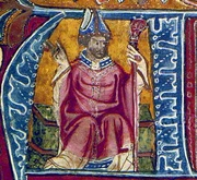Author photo. 14th-century portrait, in the British Library