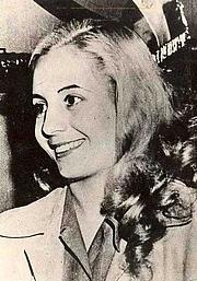 Author photo. Eva Peron, circa 1947 (Public domain ; Wikipedia)