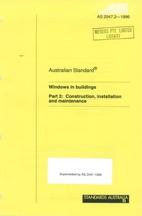 AS 2047.2 - 1996: Windows in Buildings -…
