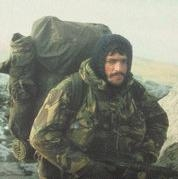 Author photo. From the cover of Falklands Commando