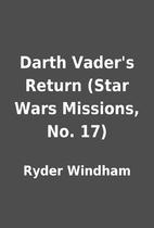 Darth Vader's Return (Star Wars…