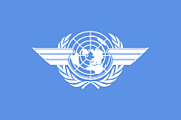 Author photo. Flag of the International Civil Aviation Organization, based on Image:Flag of the United Nations.svg and an image at <a href=&quot;http://www.icao.int/icao/gifs/icao_logo_blue.gif&quot; rel=&quot;nofollow&quot; target=&quot;_top&quot;>http://www.icao.int/icao/gifs/icao_logo_blue.gif</a>