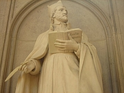 Author photo. Detail from Spee Memorial, Jesuitenkirche, Trier, Germany.