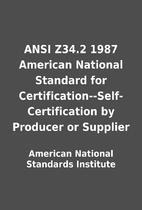ANSI Z34.2 1987 American National Standard…