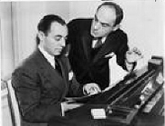 Author photo. Richard Rodger (at piano) with Lorenz Hart, 1936, World Telegram photo (Library of Congress Prints and Photographs Division, LC-USZ62-122089)