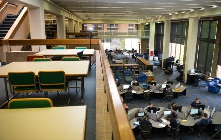 This image shows the UTD library that is found on-campus for all students!