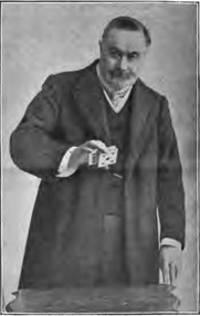 Author photo. Magician Charles Bertram (born James Bassett). Image from <b><i>The Unmasking of Robert-Houdin</i></b> (1908) by Harry Houdini