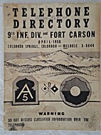Telephone Directory, 9th Inf. Div. and Fort…
