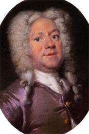 Author photo. Jacob Campo Weyerman (1677-1747). Miniature portrait by Cornelis Troost, ca. 1725