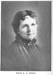 Author photo. Julia A. A. Wood [pen name Minnie Mary Lee] (b.1826), Buffalo Electrotype and Engraving Co., Buffalo, N.Y.
