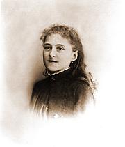 Author photo. Thérèse en février 1886 Photographie remise au Carmel en 1917 par la famille de M. Poupet, photographe d'Alençon