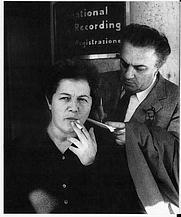 Author photo. Liliana Betti with Federico Fellini