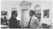 Author photo. Mendez with President Jimmy Carter