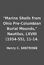 Marine Shells from Ohio Pre-Columbian…