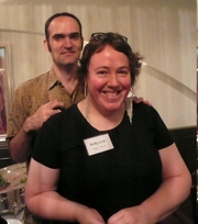 """Author photo. By Cory Doctorow from London, UK - Gavin Grant and Kelly Link, Hayakawa reception, Tokyo, Japan.JPG, CC BY-SA 2.0, <a href=""""https://commons.wikimedia.org/w/index.php?curid=4168381"""" rel=""""nofollow"""" target=""""_top"""">https://commons.wikimedia.org/w/index.php?curid=4168381</a>"""
