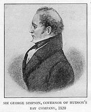 Author photo. Simon Fraser, 1776-1862 <br>Source: &quot;Canada,&quot; by Agnes C. Laut <br>(Boston, 1909)<br> (Project Gutenberg)