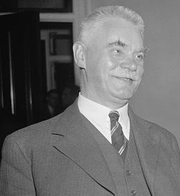 Author photo. Halvdan Koht. 27 October 1937. United States Library of Congress's Prints and Photographs Division (digital ID hec.23519). Wikimedia Commons.