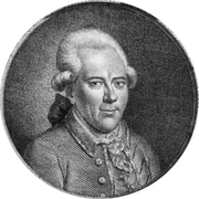 Author photo. Portrait by Johann Ludwig Strecker (1744), print by J.C. Krueger