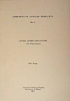 Lefana, Akpafu and Avatime with English…