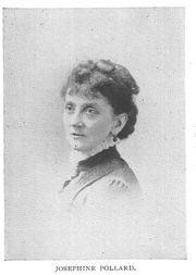Author photo. Josephine Pollard (b.1834), Buffalo Electrotype and Engraving Co., Buffalo, N.Y.