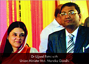 Author photo. Dr Ujjwal Patni with Maneka Gandhi By Ujjwal Patni - Own work, CC BY-SA 4.0, <a href=&quot;https://commons.wikimedia.org/w/index.php?curid=64764684&quot; rel=&quot;nofollow&quot; target=&quot;_top&quot;>https://commons.wikimedia.org/w/index.php?curid=64764684</a>