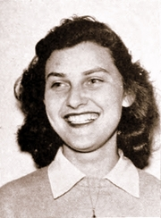 Author photo. Flora Lewis, ca. 1941 [source: UCLA 1941 Southern Campus Yearbook]